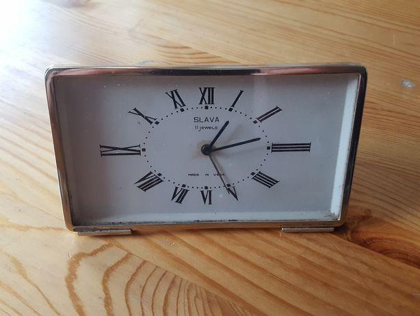 Zegar stołowy Slavia 11 jewels. Made in USSR