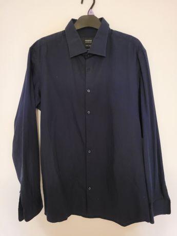 Granatowa koszula męska Reserved