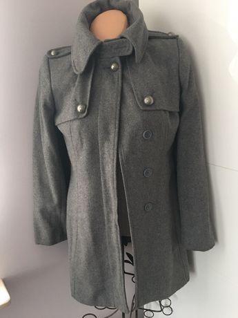 Szary płaszczyk płaszcz Oasis S elegancki wyjściowy