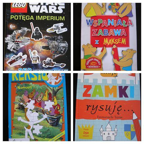 Reksio, Star Wars, Zamki rysuję - łamigłówki, zagadki, naklejki - NOWE