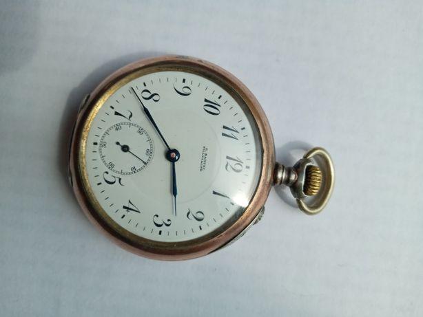 Швейцарские серебряные оригинальные часы Longines полностью рабочие!