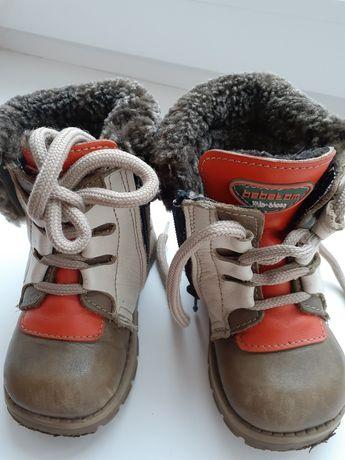 Детские кожанные ботинки Bebetom на овчине, ортопеды, сапожки.