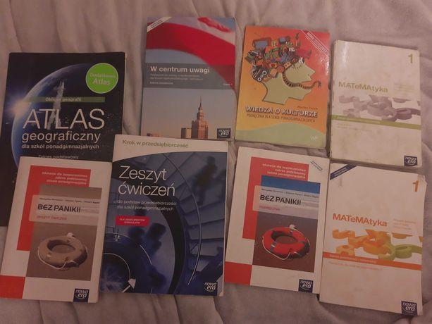 Książki klasa 1 liceum Nowa Era matematyka WOS WOK Bezpieczeństwo inne