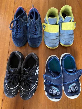 3 pary butów chłopięcych 28, super stan, korki gratis