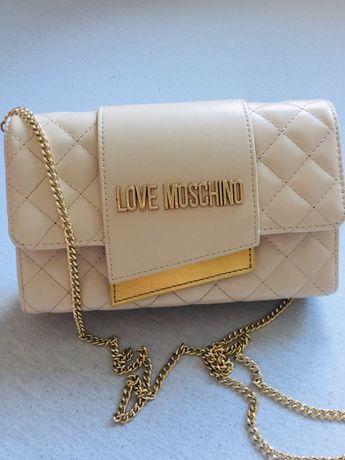 Torebka Love Moschino beżowa