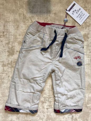 Утепленные штаны на флисе для мальчика 68см 6 мес Sergent Major