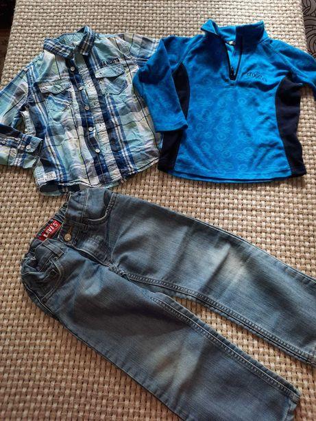 Флиска рубашка OVS джинсы Levi's 514 4 5 лет 104 110 кофта