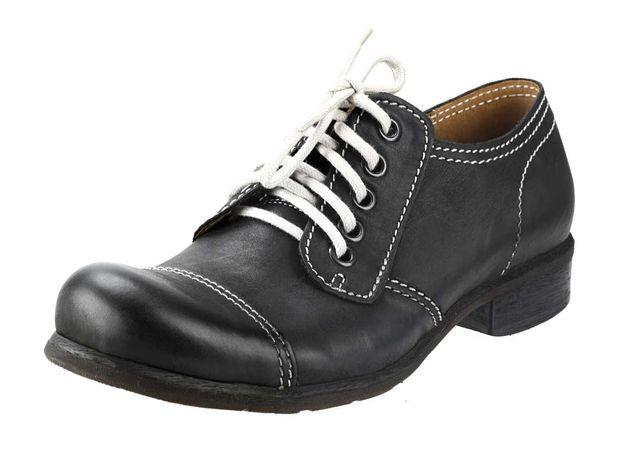 Męskie glany skórzane sznurowane czarne półbuty obuwie męskie old 43