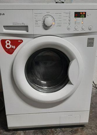 Máquina de lavar roupa lg direct driver inverter 8kg