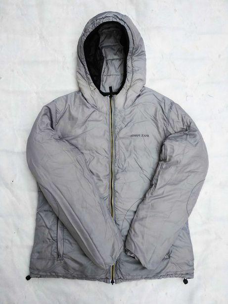 Куртка двухсторонняя Armani Jeans пуховик Moncler
