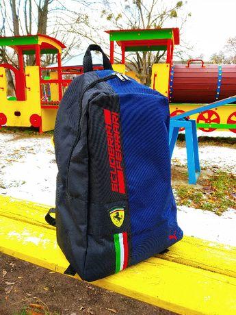 Спортивний, міський рюкзак Puma Scuderia Ferrari, пума. Феррарі. Синій