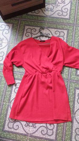 Платье красное Мохито 44 размер на запах