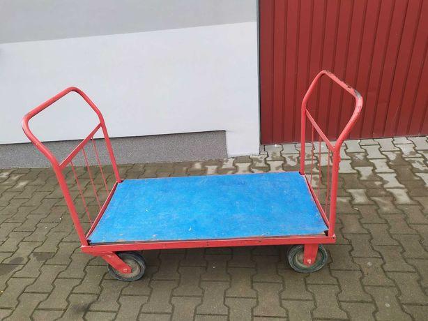 Wózek transportowy DUŻY 120x60cm i MEGA WYTRZYMAŁY 400kg
