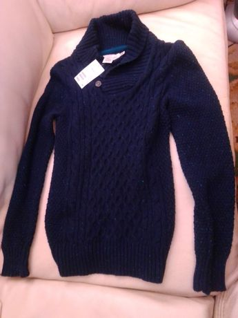 Magnífica Camisola da H&M Nova Azul Escura
