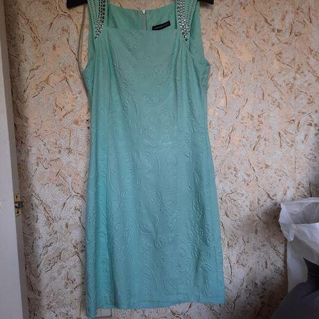 Платье сарафан ментол