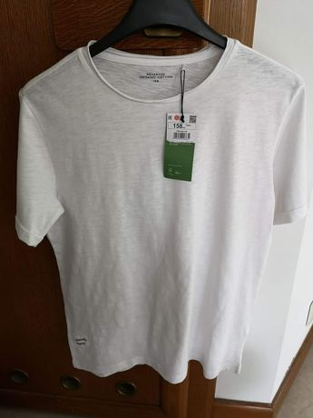 Nowa koszulka Reserved, bawełna organiczna, 158
