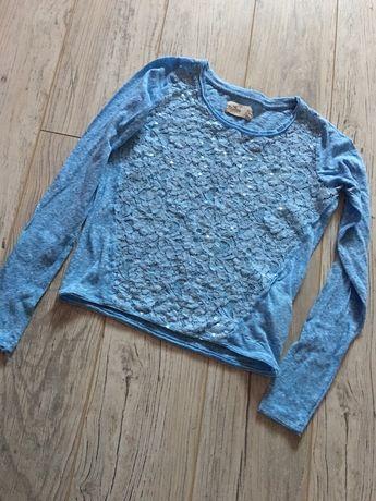 Hollister xs bluzka bluzeczka z koronką śliczna