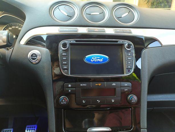 Auto Rádio Ford Focus S- Max Mondeo C-Max GPS Bluetooth USB Android 10