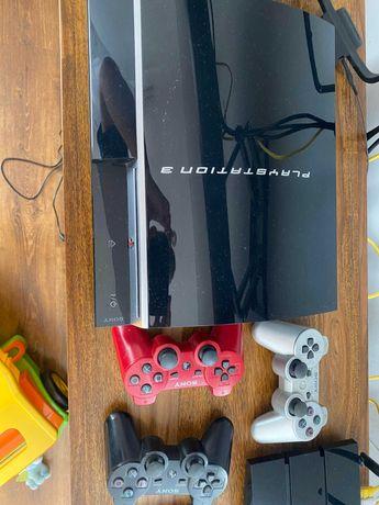 Play Station 3 plus 4 kontrolery i kamerka PlayStation Eye