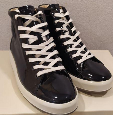 Бомбезные!!! Ecco ботинки 37 размер Осень-Зима Кожа!!;