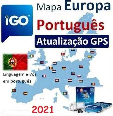 NOVA ATUALIZAÇÃO para Software iGO Mapa Europa 2021/10