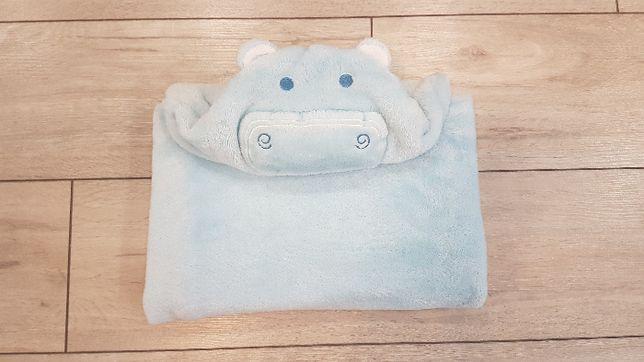 Kocyk ręcznik z kapturkiem polar