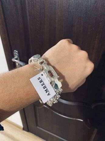 Серебряный браслет МОСКВИЧ 101 грамм
