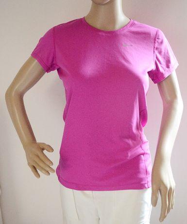 Bluzka Koszulka Różowa Nike Dri Fit Running S 36 Róż Adidas Reebok