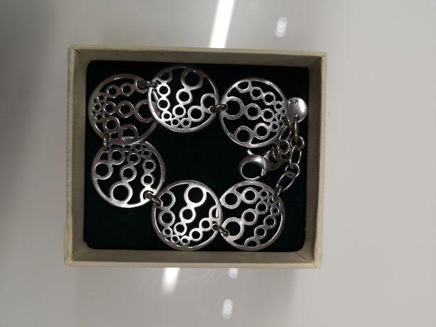 Bransoletka na rękę srebrna wyjątkowo piekna idealna na prezent