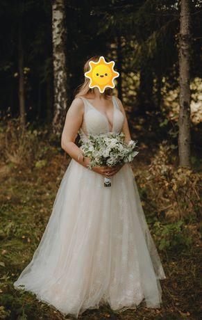 Suknia ślubna Betti, perły, groszki