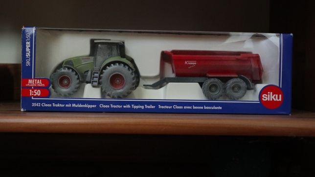 SIKU 3542 - traktor z przyczepą - rarytas