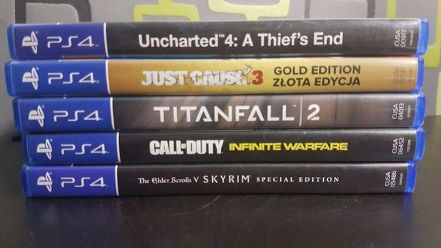 Gry PS4,  Just Cause 3, Titanfall 2, CoD infinite, mafia 3