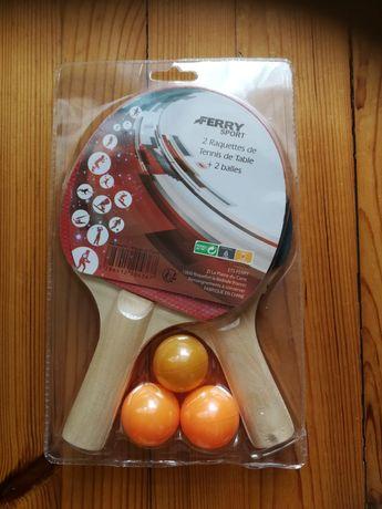 Rakietki + piłeczki do tenisa stołowego