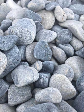 Otoczak grecki niebiesko-szary Creta HIT! kamień ozdobny grys ogrodowy