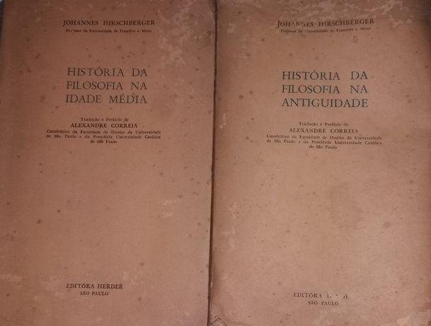 História da Filosofia na Antiguidade e na Idade Média de 1957 e 1959