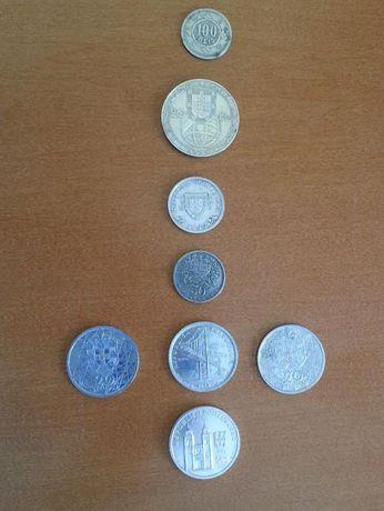 Lote com 8 moedas Portuguesas- Monarquia e República