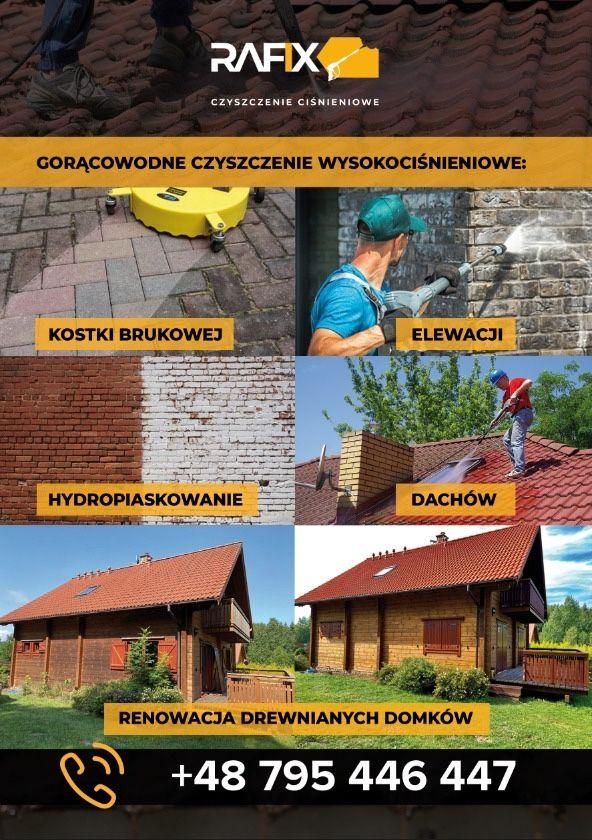 Mycie Elewacji,Kostki Brukowej,Dachów,Ogrodzeń,Hale i Magazyny