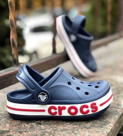 Купить Детские Кроксы Закритие Баябенд Нави Crocs Kids 24-34 размер