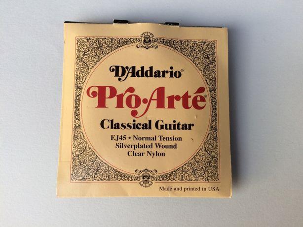 D,Addario Pro-Arté EJ45 – conjunto de 6 cordas com ponta metálica