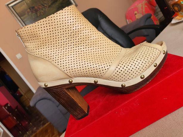 Buty ze skóry perforowanej BADURA r.39