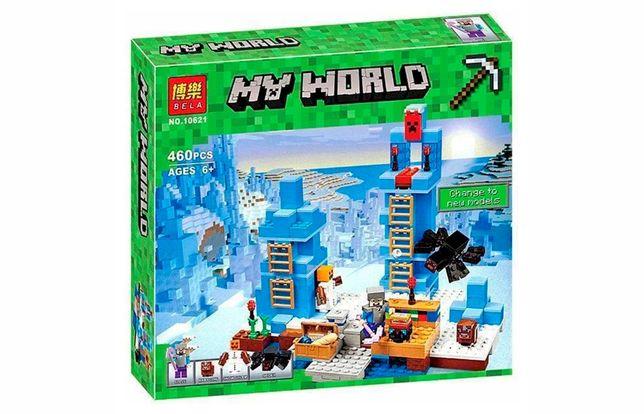 """Конструктор Bela Minecraft 10621 """"Ледяные шипы"""", 460 д, лего, майн."""