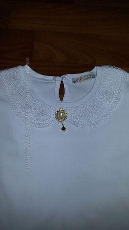 новая белая блузка трикотажная Турция 16 лет