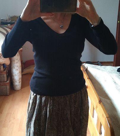 Bluzka czarna sweterek Massimo Dutti S/M