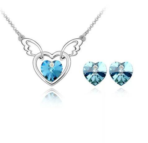 Nowy zestaw biżuterii błękitny
