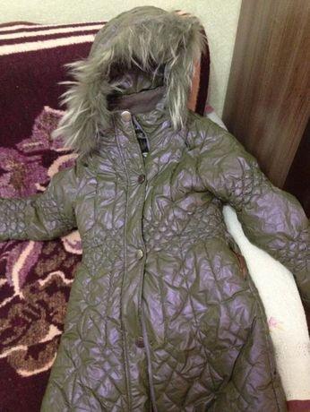 Куртка (пуховик пальто) детская зимняя непромокаемая размер 140