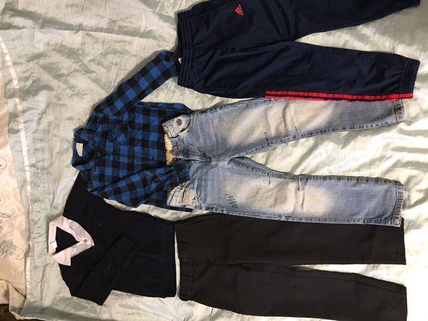 Пакет вещей в школу.штаны.джинсы.спортивные штаны.рубашка.комплект.