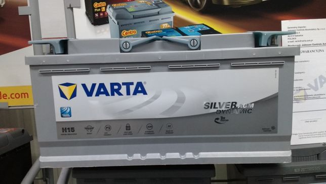 Akumulator Varta AGM H15 12V 105Ah 950A Start Stop EK1050 CK1050 Dowóz