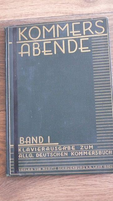 100 letni niemiecki śpiewnik kommers abende jakość z niemiecki katalog