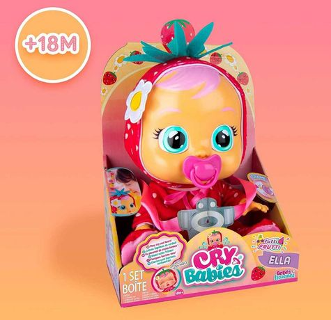 Интерактивная кукла Плакса Cry Babies Tutti Frutti Арбузик, Клубничка