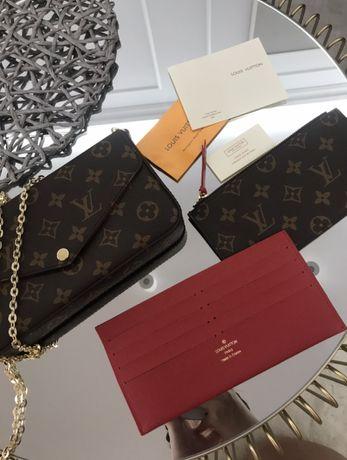 Louis Vuitton LV torebka na zlotym pasku mini